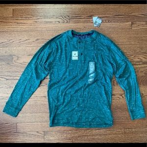 Beverly Hills Polo Club Green Henley (Small)